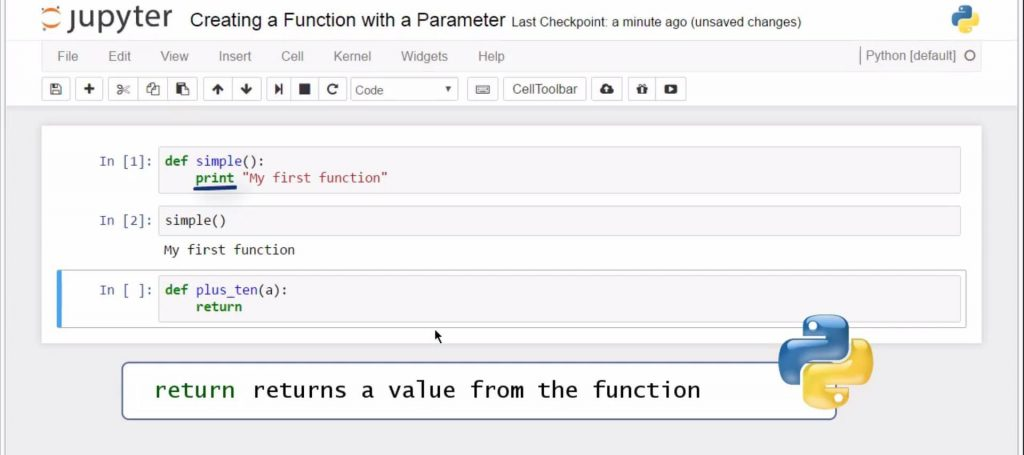 return returns a value from the function