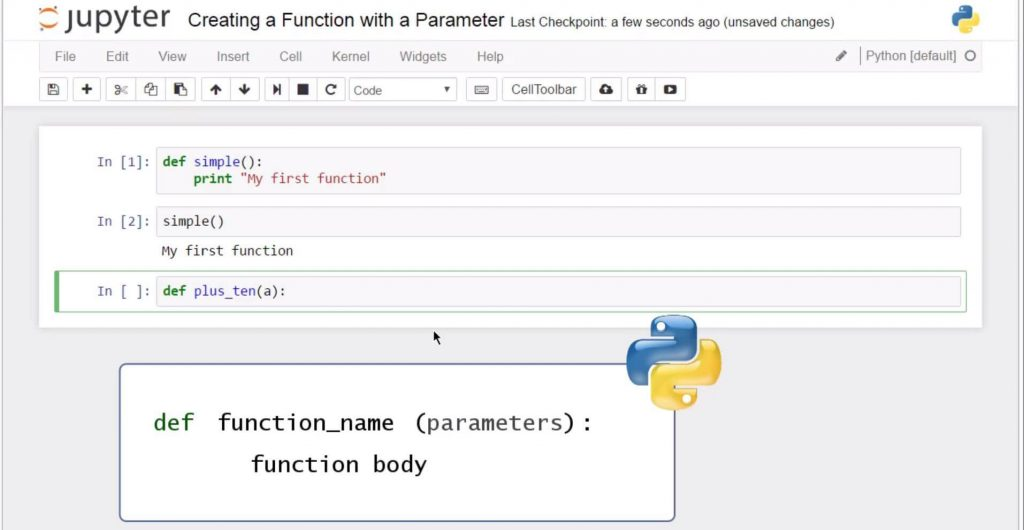 Creating a Python Functions with Parameter