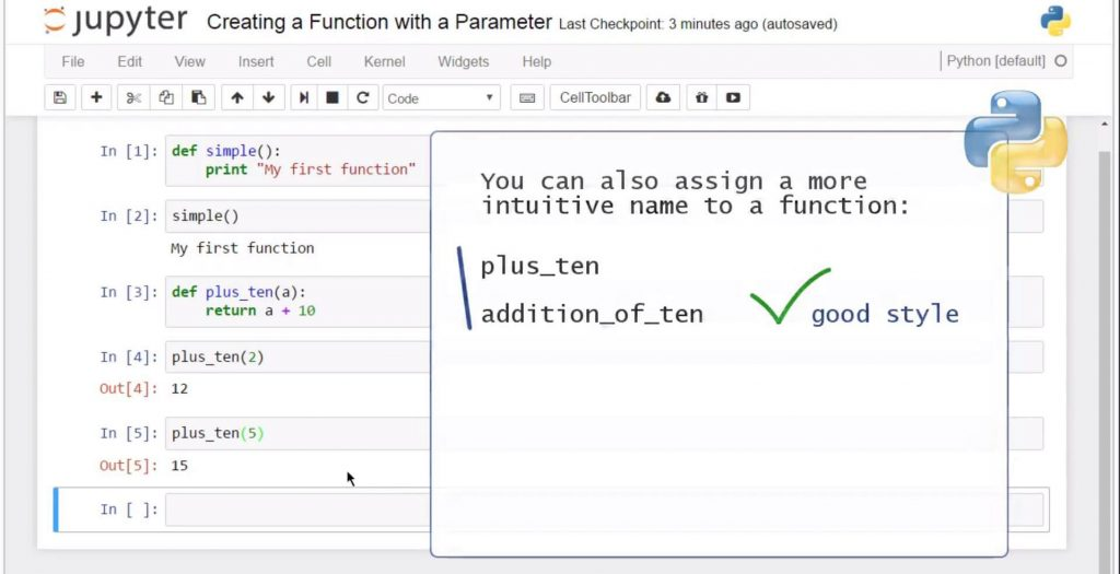 Creating a Python Function with a Parameter: good style