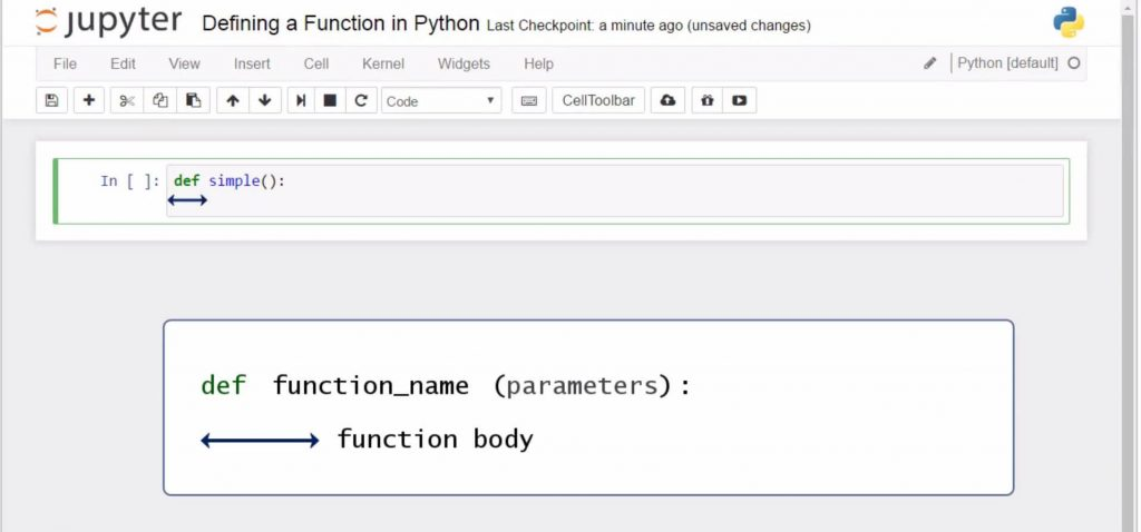 function body, python functions