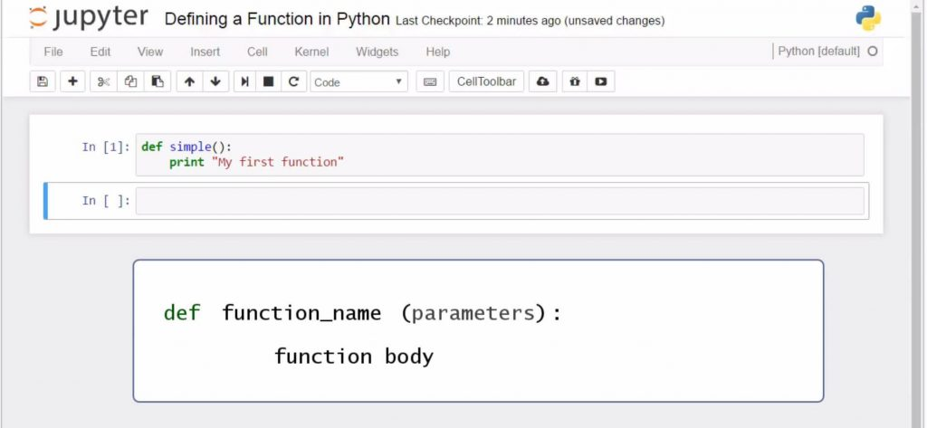 function name function body