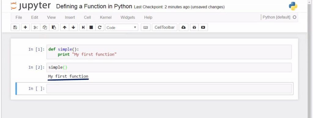 Defining a Function in Python: calling the function