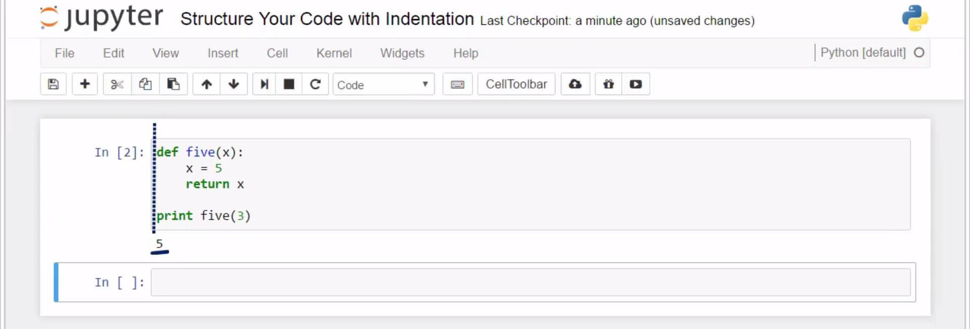 Structure Your Code with Indentation in Python 5