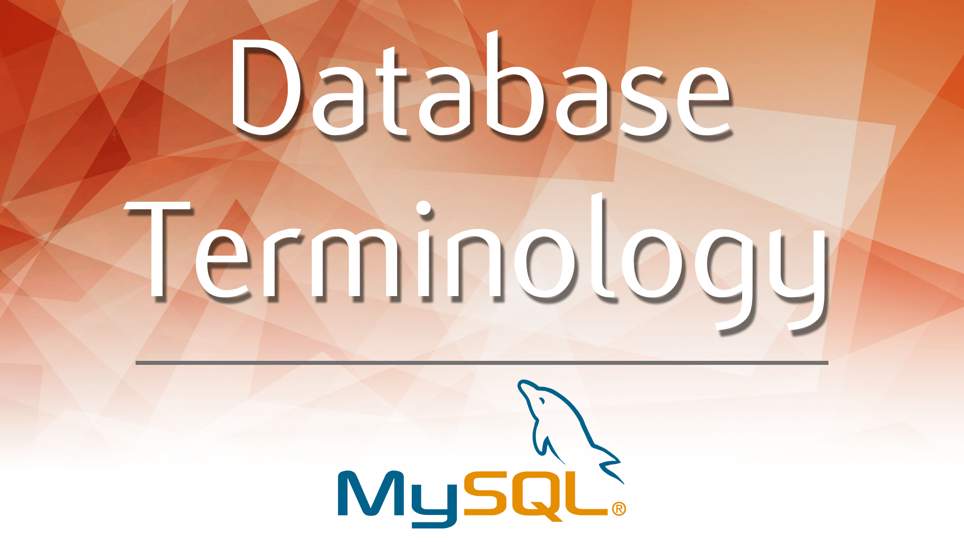 Basic Database Terminology