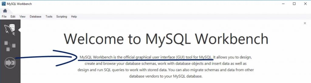 Welcome to MYSQL workbench