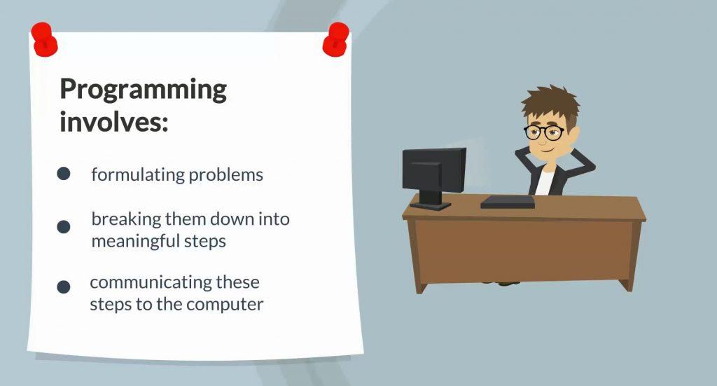 Programming involves