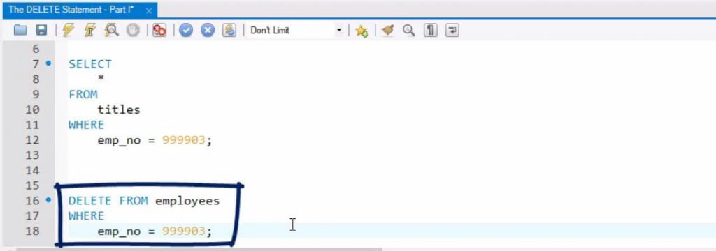 write a sql query to delete a table
