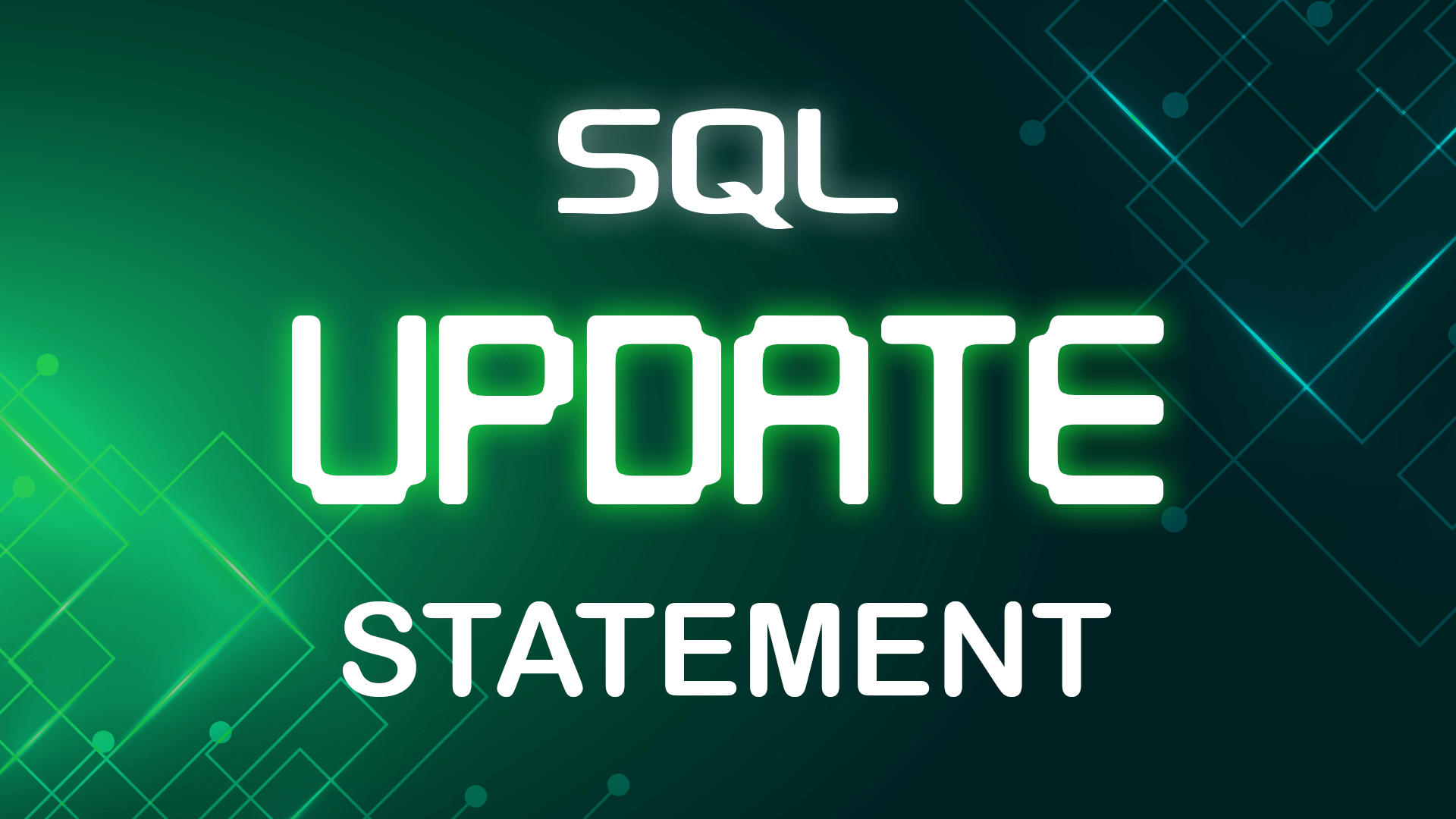 SQL UPDATE Statement
