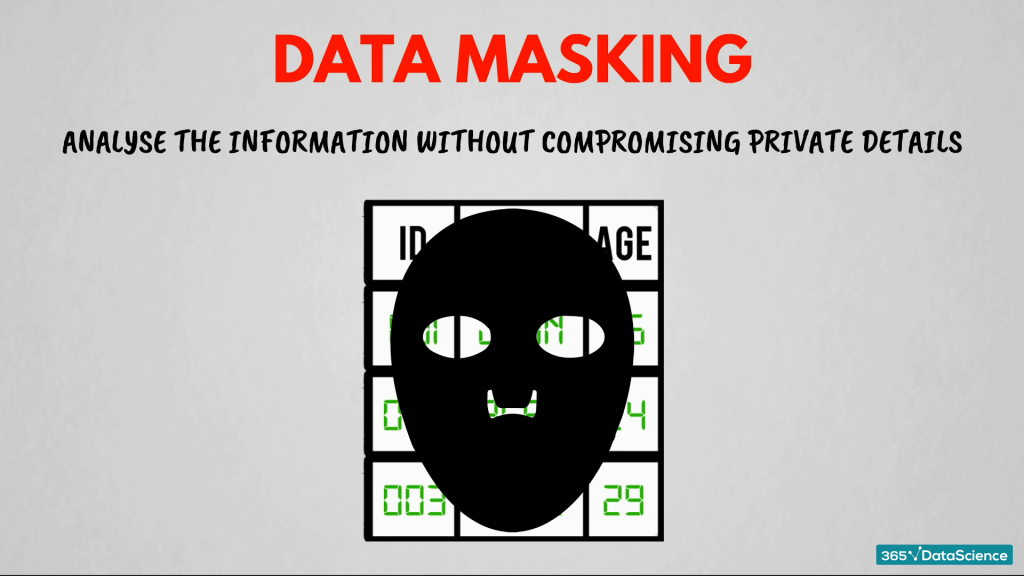 Data masking technique to process big data