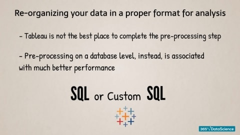 reorganising your data in a proper format for analysis