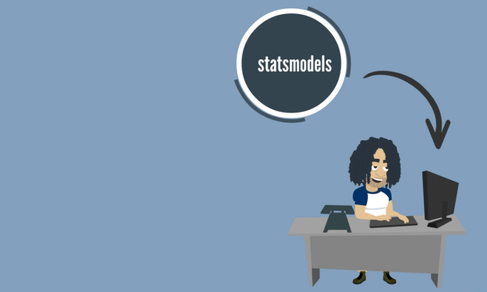 use statsmodels for calculations, modules in python