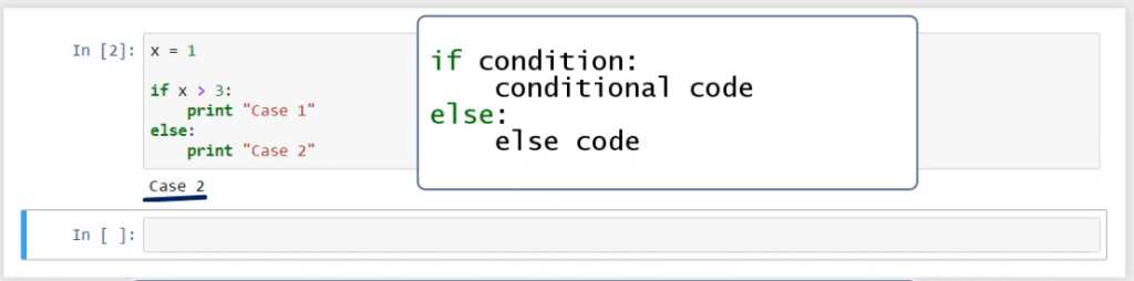 if conditional code and else code