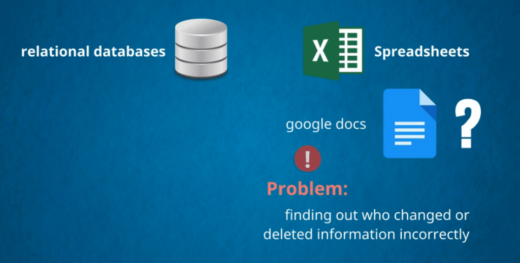 Things like google docs can still leave things confusing, databases vs spreadsheets