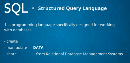 SQL is designed to work with databases