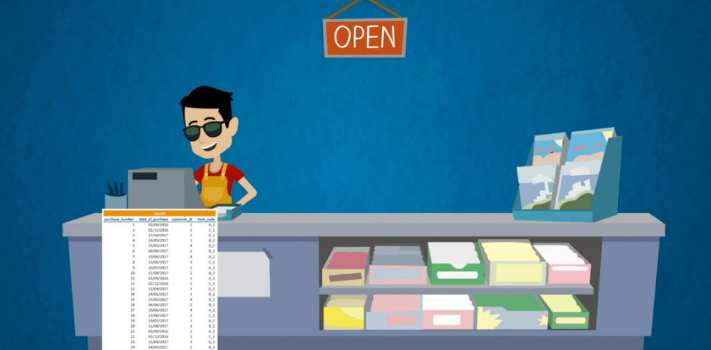A shopkeep with a million rows of data, databases vs spreadsheets