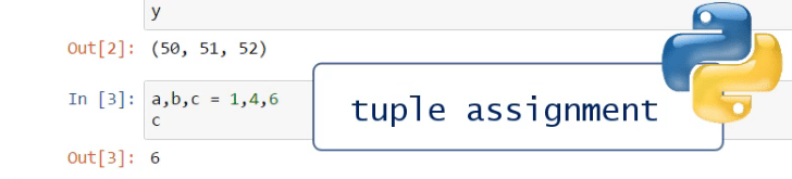 Tuple assignment, tuples in python