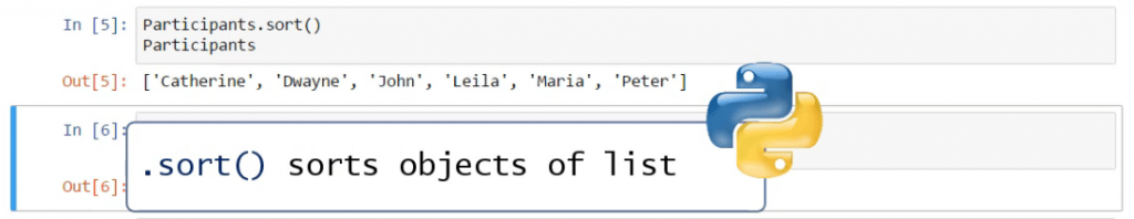 .sort() sorts objects of list