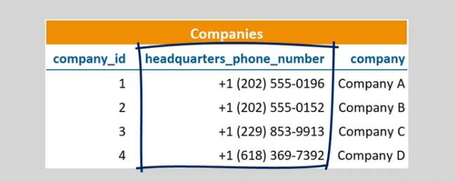 A telephone number will always be unique