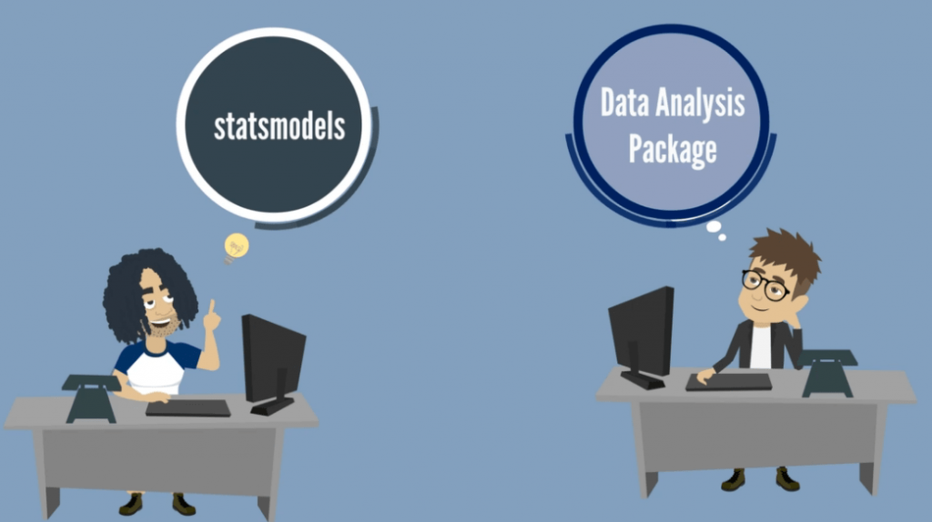 vs data analyst package, modules in python