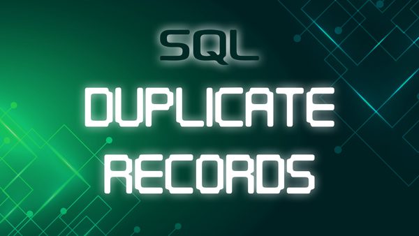 duplicate records in sql
