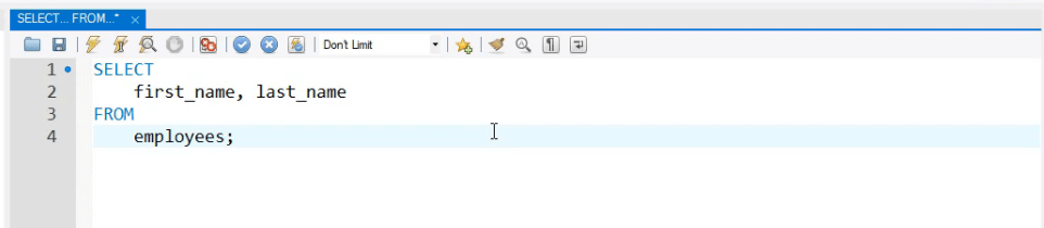 Separate the code for easier reading, operators in sql