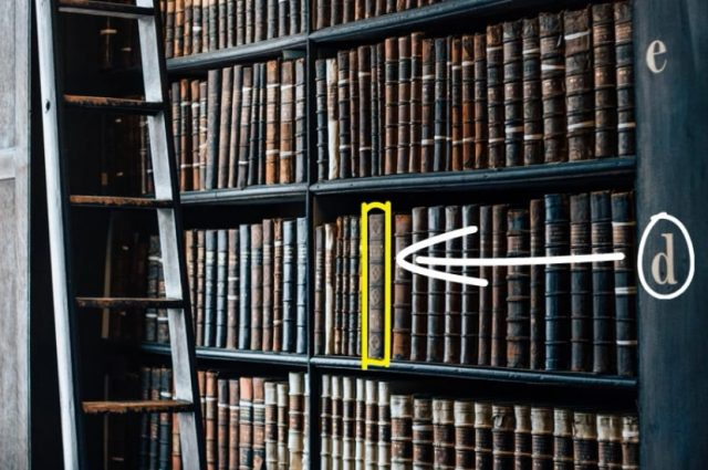 library with book highlighted, indexes in mySQL