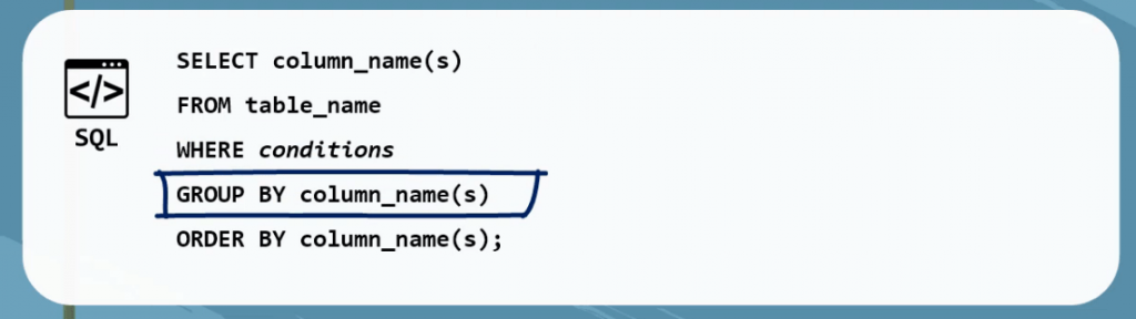 Group by column name, sql group by