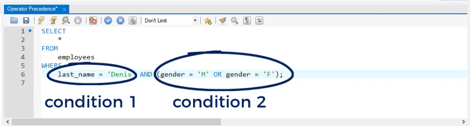 condition 1 and condition 2