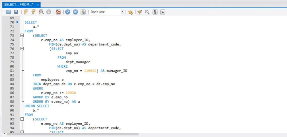query data expanded, operators in sql