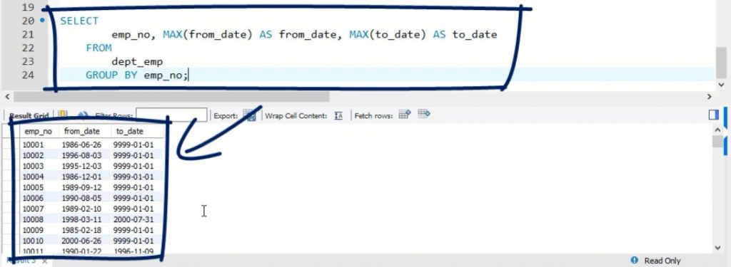 select, sql views