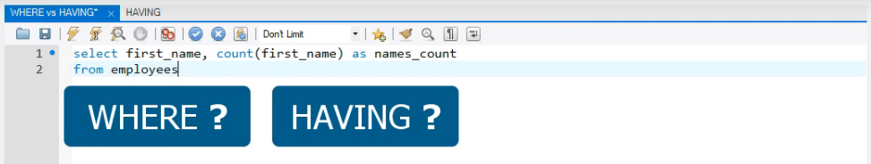 where? having?