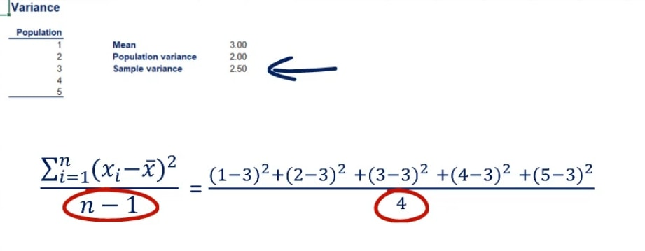 sample variance, coefficient of variation