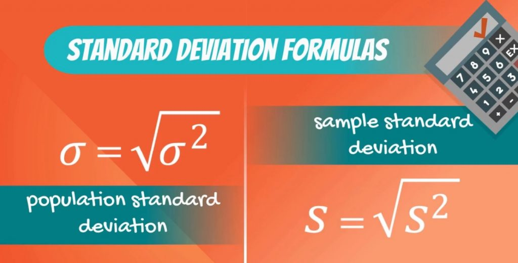 standard deviation formulas, coefficient of variation