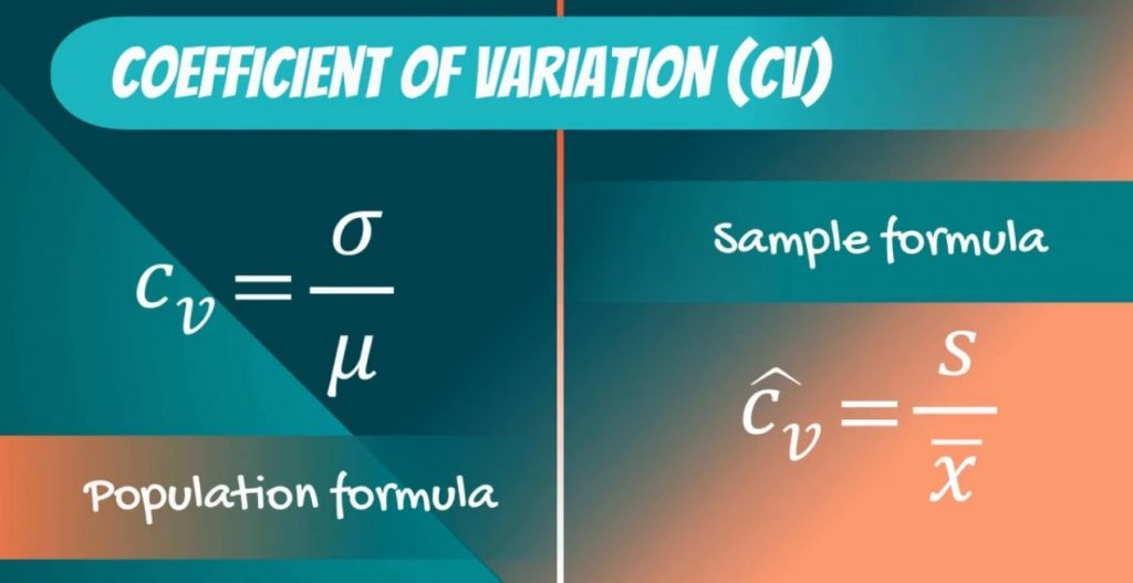 sample formula, coefficient of variation