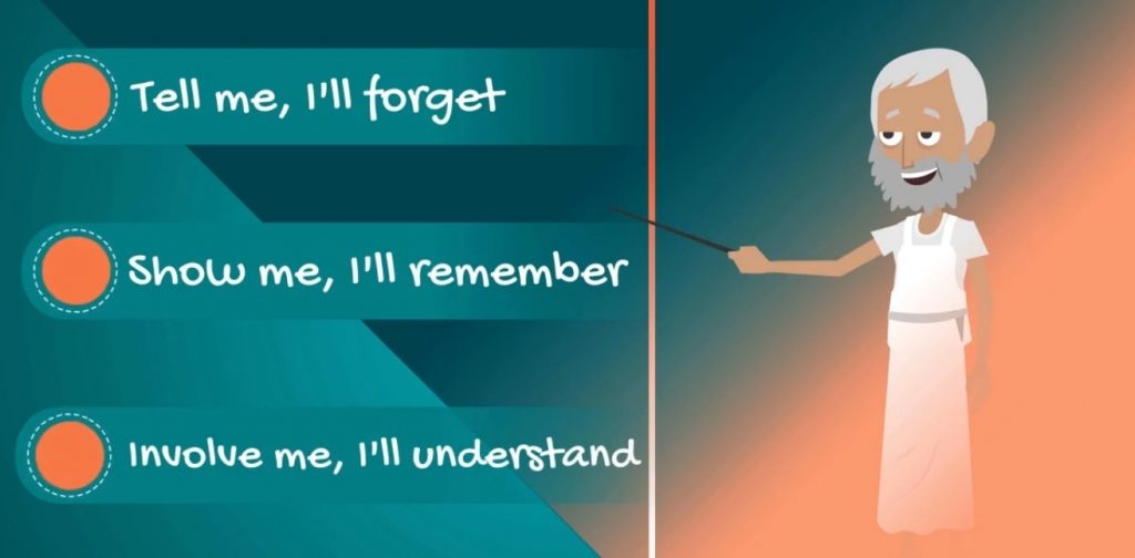 """""""Tell me, I'll forget. Show me, I'll remember. Involve me, I'll understand."""""""