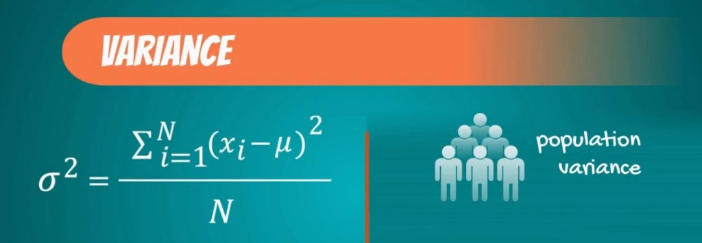 population variance-variability, coefficient of variation