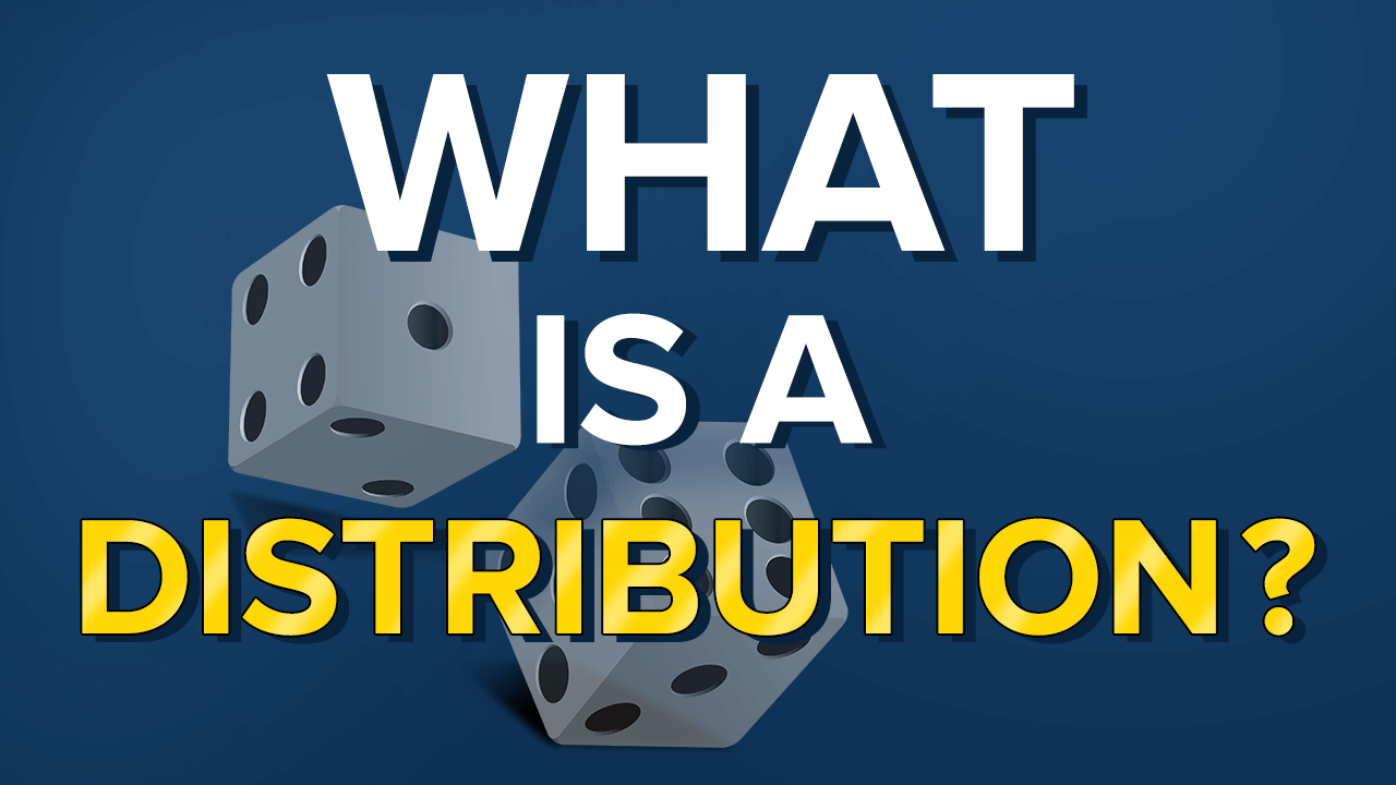 dice depicting the concept of probability distribution