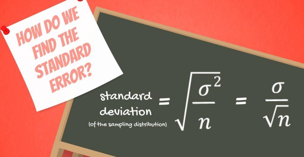 How do we find the standard error