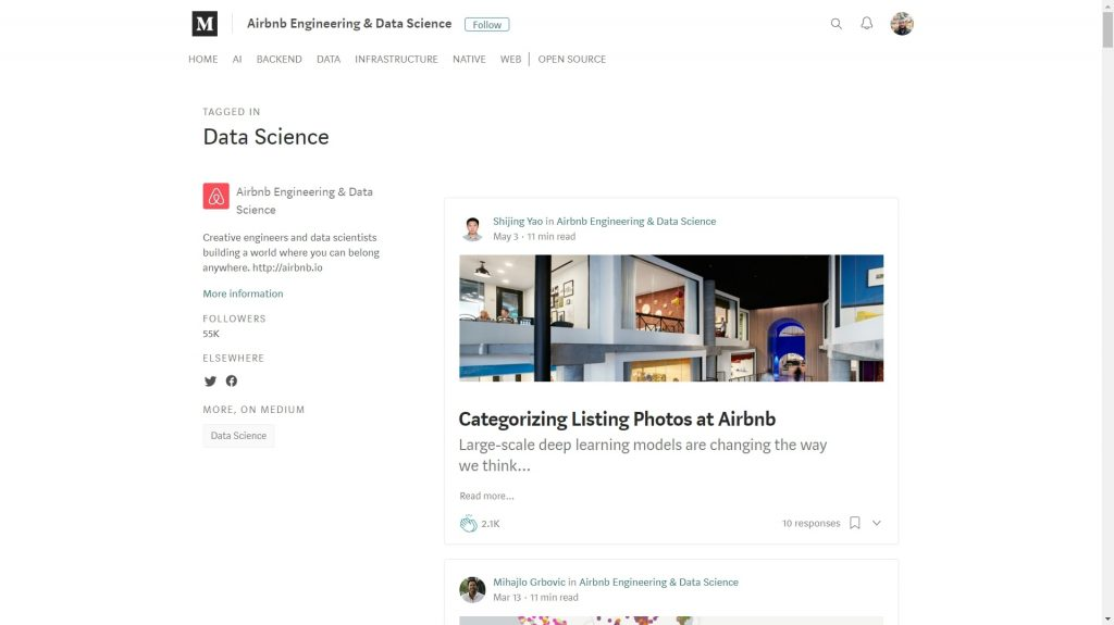 Airbnb data science blog