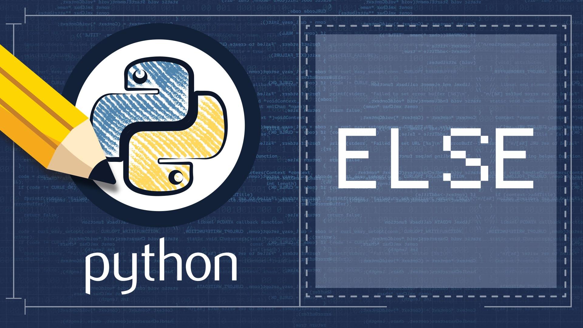 Python ELSE Statement Exercise