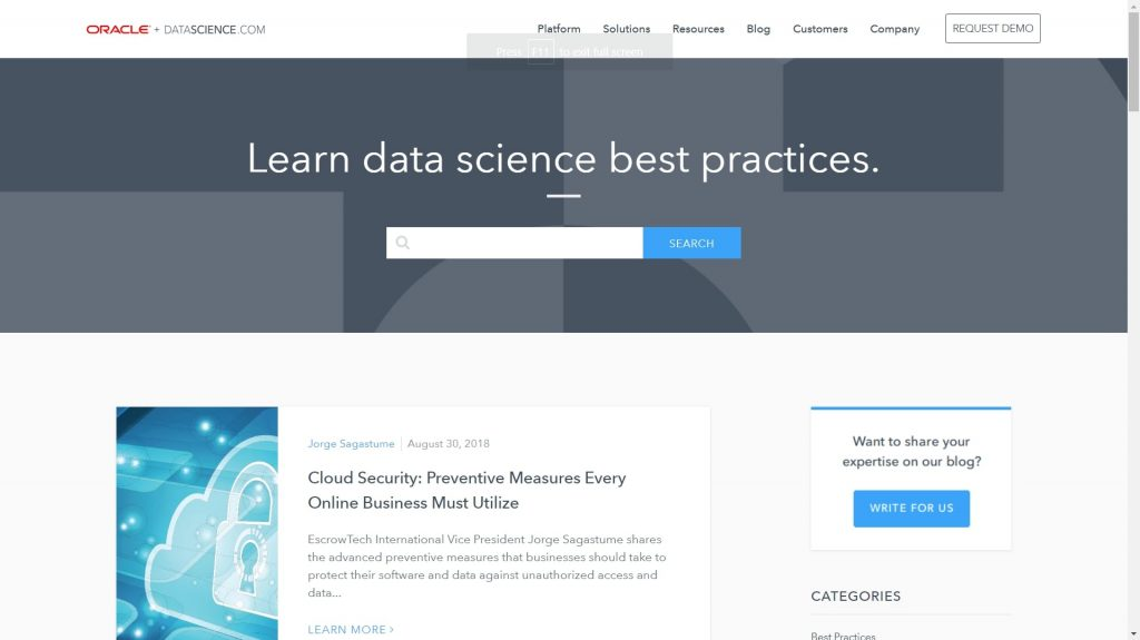 Oracle and data science blog