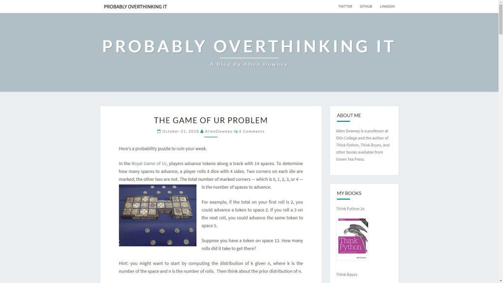 Probably overthinking it data science blog