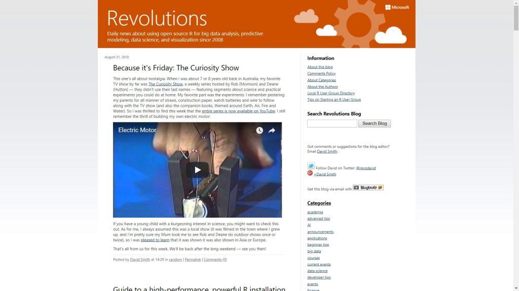 Revolutions data science blog