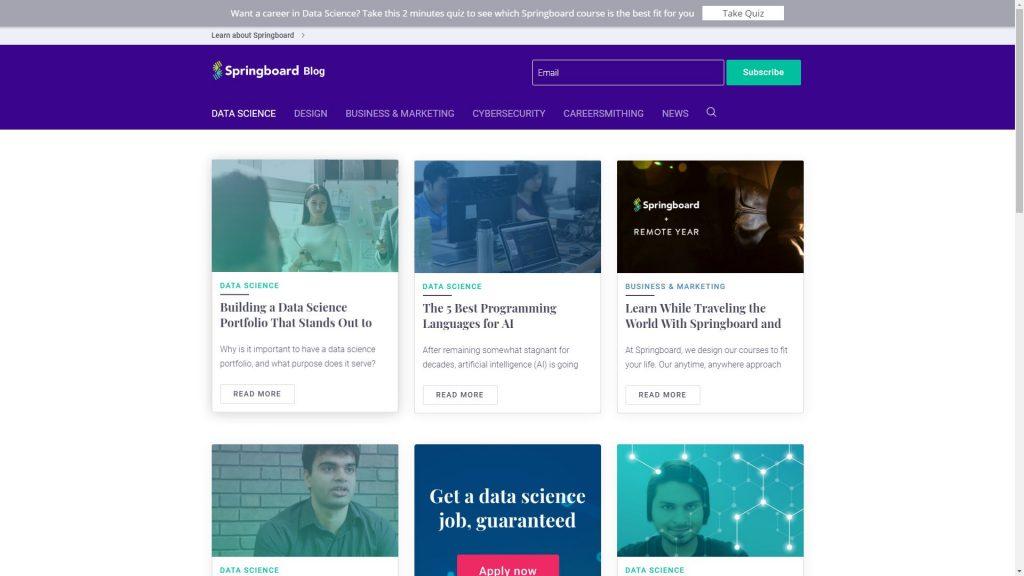 Springboard data science blog