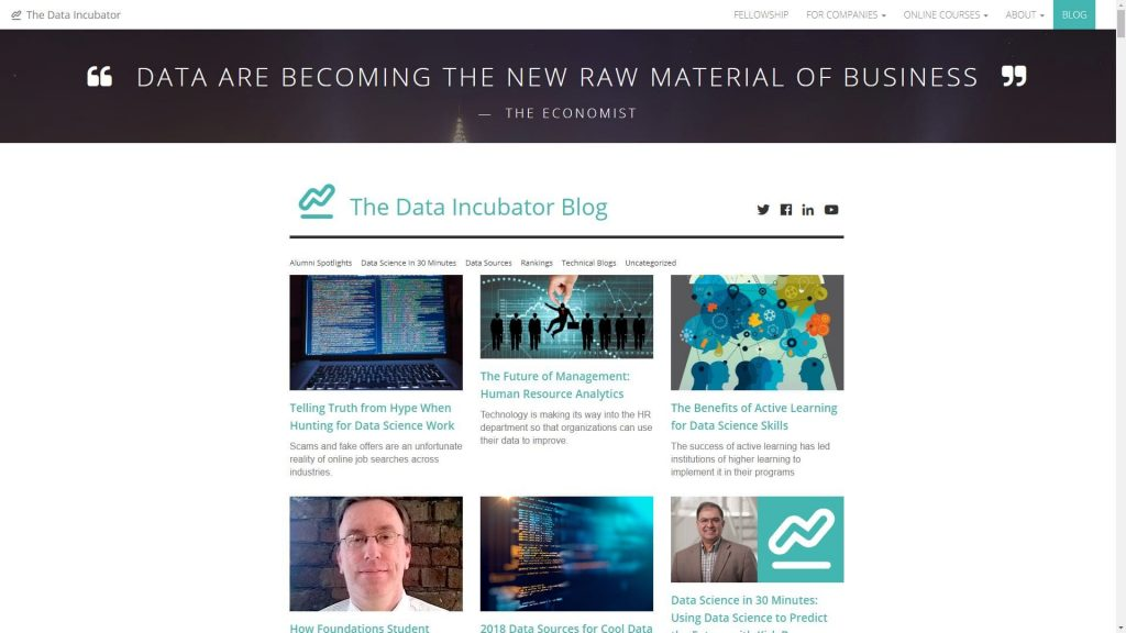 The Data Incubator data science blog