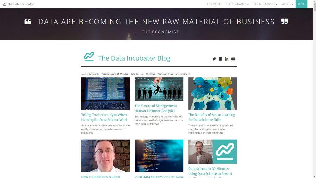 The Data Incubator data science blog