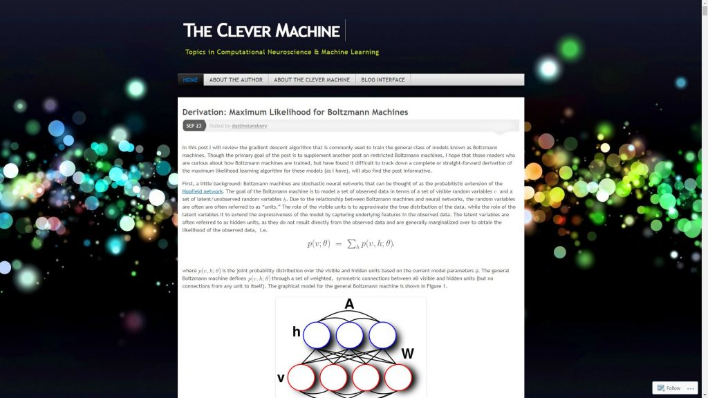 The clever Machine data science blog