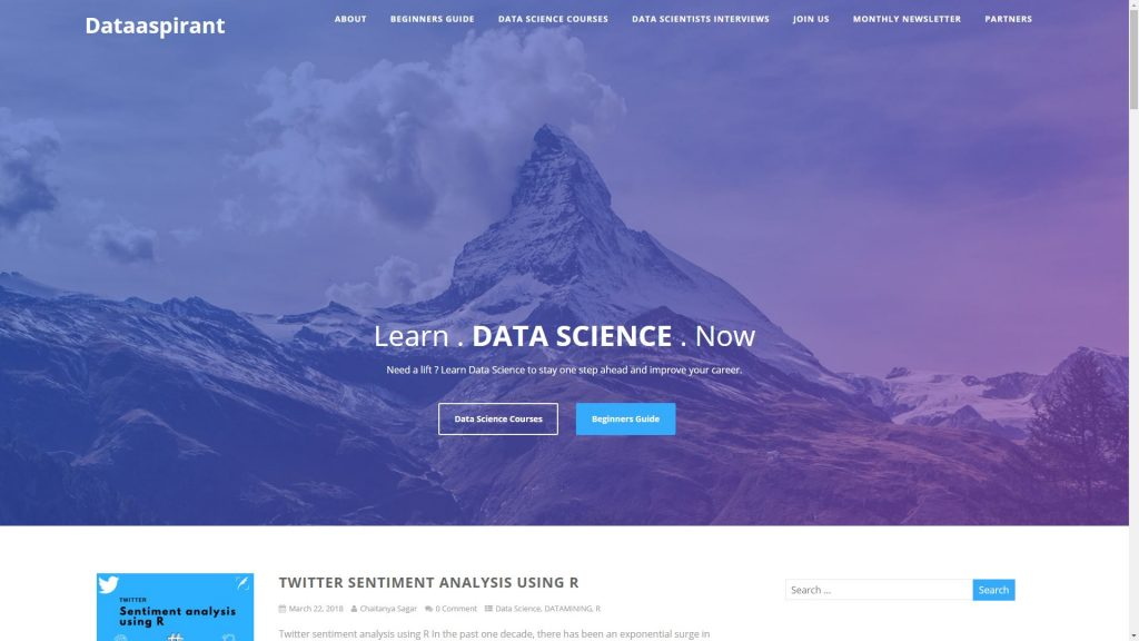Dataaspirant data science blog