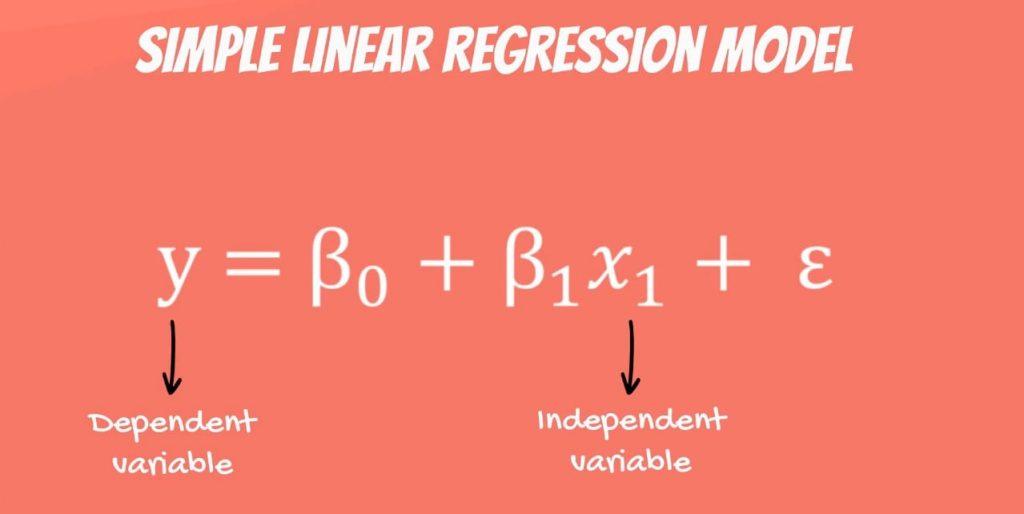 Simple linear regression model, linear regression