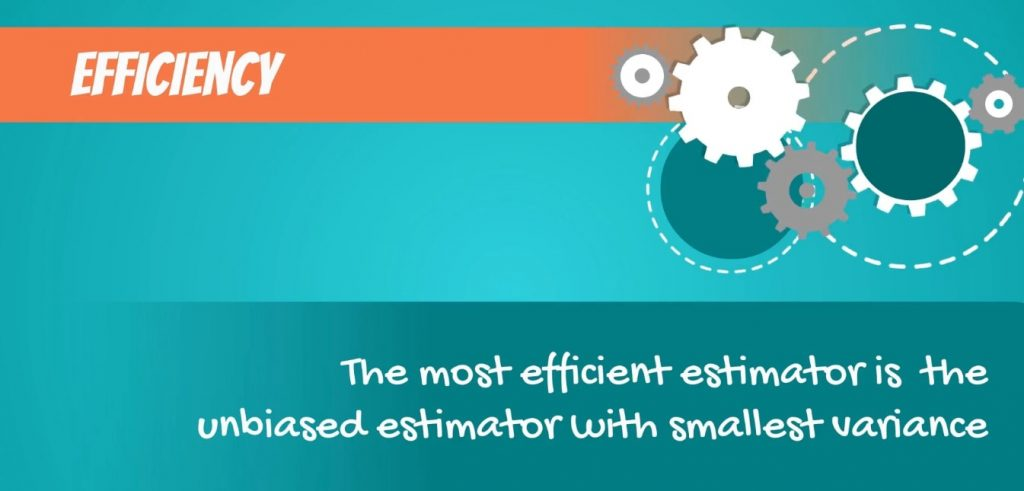 The most efficient estimator is the unbiased estimator with smallest variance